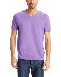 Hugo Boss Eraldo  | Pima Cotton V-Neck T-Shirt - Lyst