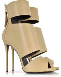 Giuseppe Zanotti Cappuccino Leather High Heel Sandal - Lyst