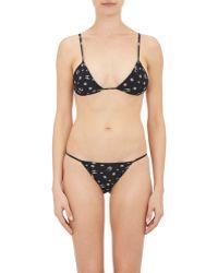 Lucien Pellat Finet - Skull-print String Bikini Set - Lyst