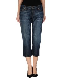 James - Denim Capris - Lyst