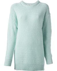 Acne Studios Oversized Knit Sweater - Lyst