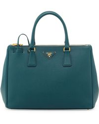 Prada Saffiano Double-Zip Executive Tote Bag - Lyst