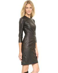 By Malene Birger Dimitros Croc Embossed Dress  Black - Lyst