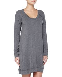 Donna Karan New York Luxe French Terry Sleepshirt - Lyst