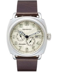 Szanto - Automatic Leather Strap Watch - Lyst