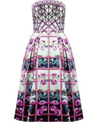 Mary Katrantzou Nevis Dress Foli Rose Roadrunner - Lyst