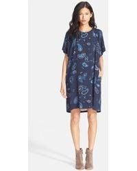 See By Chloé Paisley Print Knit T-Shirt Dress - Lyst