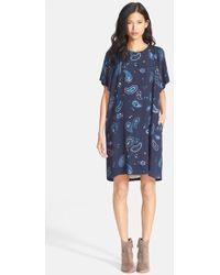 See By Chloé Women'S Paisley Print Knit T-Shirt Dress - Lyst