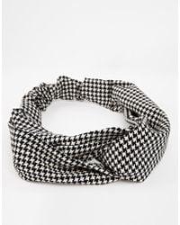 Asos Limited Edition Houndstooth Turban Headband - Lyst