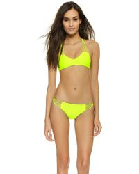 Mikoh Swimwear Banyans Bikini Top - Flamingo yellow - Lyst