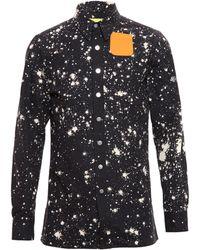 Raf Simons Sterling Ruby Paint Splatter Denim Shirt - Lyst