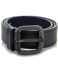 Bottega Veneta Intrecciato Buckle Leather Belt - Lyst