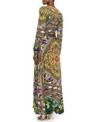 Camilla Jersey Mandalaprint Maxi Wrap Dress - Lyst