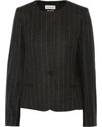 Etoile Isabel Marant Hudson Pinstriped Wool-blend Blazer - Lyst