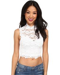 Nightcap Dixie Lace Crop Top - Lyst