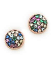 Katie Rowland Java Mini Stud Earrings Multi - Lyst