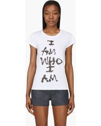 Diesel White T_lindo_k I Am Who I Am Cotton Jersey T_shirt - Lyst