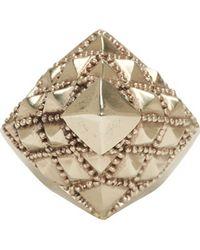 KTZ - Silver Pyramid Facet Ring - Lyst