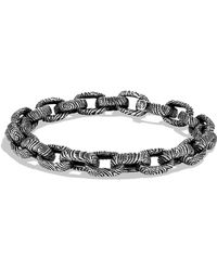 David Yurman - Iron Wood Oval Small Link Bracelet - Lyst