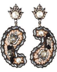 Lanvin - Crystal Paisley Drop Earrings - Lyst