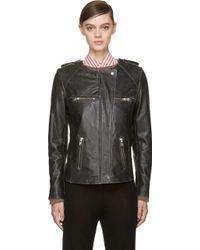 Etoile Isabel Marant Black Leather Bacuri Jacket - Lyst