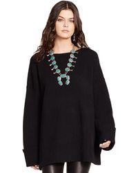 Polo Ralph Lauren Oversized Boatneck Sweater - Lyst