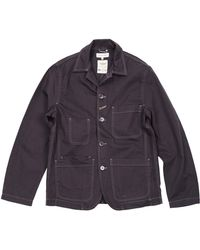 Universal Works Blue Bakers Blazer - Lyst