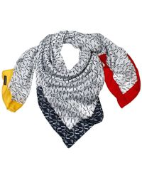 Armani Jeans Foulard Kefia Logo All Over with Color Detail - Lyst