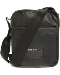 Diesel City To The Core Small Black Shoulder Bag black - Lyst