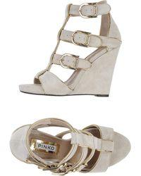 Pinko Beige Sandals - Lyst