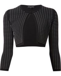 Narciso Rodriguez Cropped Cardigan - Lyst