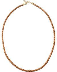 Pamela Huizenga - Braided Leather Necklace - Lyst