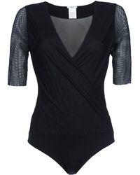 Wolford Black T-Shirt - Lyst