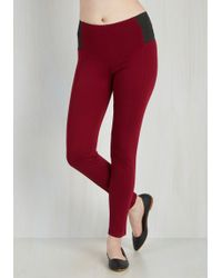 Leggsington - In The Home Stretch Pants In Wine - Lyst