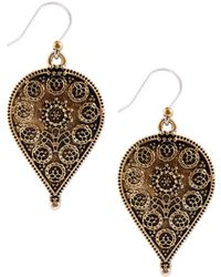 Lucky Brand - Etched Teardrop Earrings - Lyst