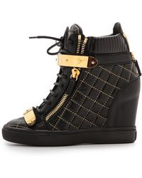 Giuseppe Zanotti Quilted Lorenz Sneakers - Black - Lyst