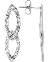 Charriol 18K White Gold 0.43Tcw Dangle Earrings - Lyst