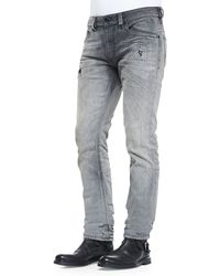 Diesel Thavar 837e Distressed Slim-leg Jeans - Lyst
