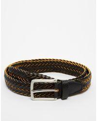 Asos Braid Belt in Twotone - Lyst