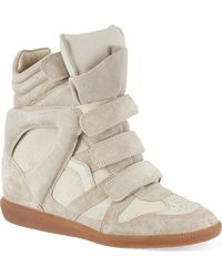 Isabel Marant Bekett Suede Hi-Top Wedged Sneakers - For Women - Lyst