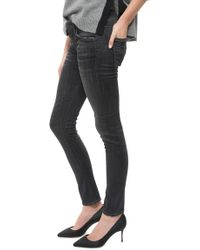 Citizens of Humanity Racer Low Rise Skinny black - Lyst
