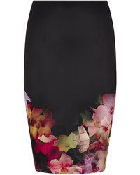 Ted Baker Kaikai Cascading Floral Pencil Skirt - Lyst