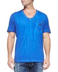 Diesel Pigment-dyed V-neck T-shirt - Lyst