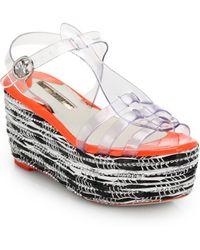 Sophia Webster Suki Jelly Platform Wedge Sandals - Lyst