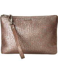Fossil Wristlet Pouch gold - Lyst