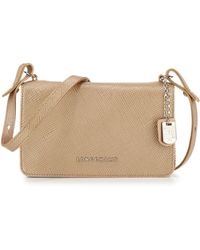 Longchamp Quadri Metallic-Leather Cross-Body Bag - Lyst
