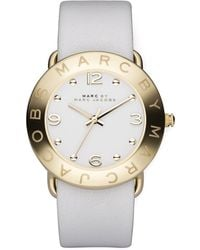 Marc By Marc Jacobs Round Watch White - Lyst