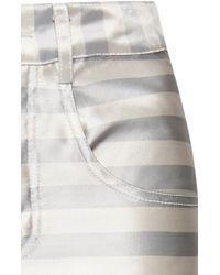 Katie Ermilio - Striped Satin Jeans - Lyst
