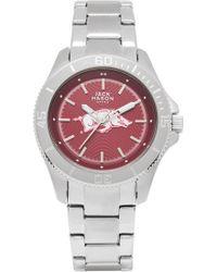 Jack Mason Brand - 'university Of Arkansas Razorbacks' Bracelet Watch - Lyst