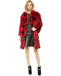 Jay Ahr | Faux Fur Coat - Red | Lyst